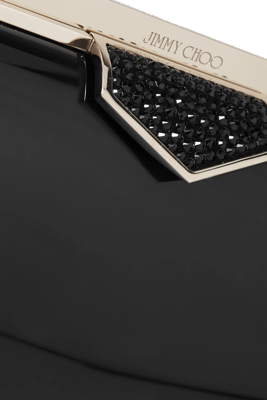 Jimmy Choo Ellipse crystal-embellished acrylic clutch
