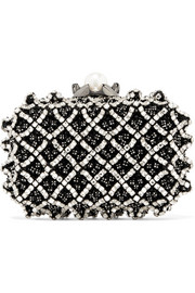 Jimmy Choo Cloud verzierte Clutch aus Satin