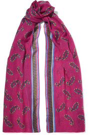 Etro Printed cashmere scarf