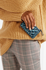 The Rockstud Spike quilted metallic leather pouch