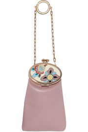 Valentino Enameled leather keychain