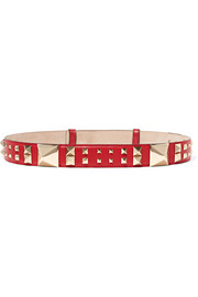 The Rockstud leather belt