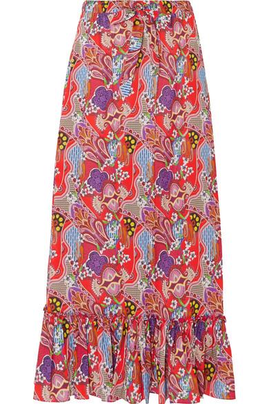 Online Einkaufen Etro Bedruckter Maxirock aus Baumwoll-Voile Verkauf Mehrfarbig JYt8ZlxOK