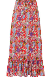 Etro Printed cotton-voile maxi skirt