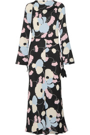 Havana floral-print crepe de chine maxi dress