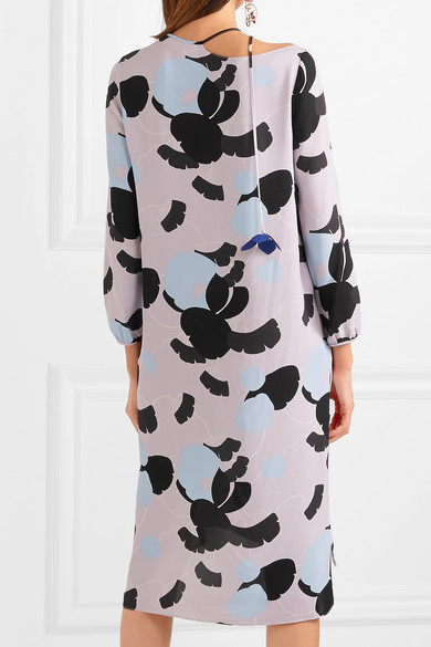 Marni Bedrucktes Kleid aus Crêpe de Chine