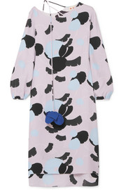 Marni Printed crepe de chine dress