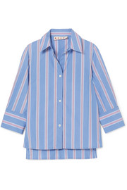Marni Striped cotton-poplin shirt