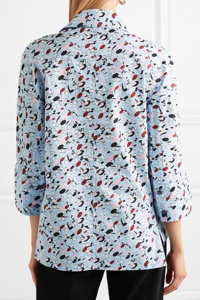 Marni Hemd aus vorgewaschener Baumwollpopeline mit Blumendruck