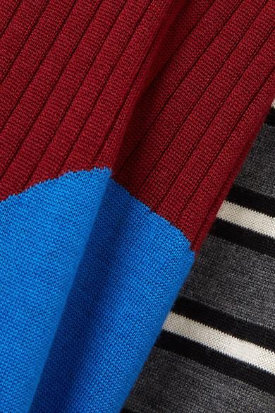 Marni Bedrucktes Midikleid aus gerippter Wolle