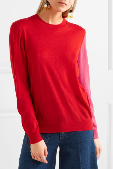 Marni Kaschmirpullover in Colour-Block-Optik