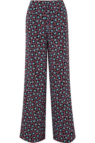 Pantalon Marni Avec Large Jambe En Crêpe De Soie Imprimé