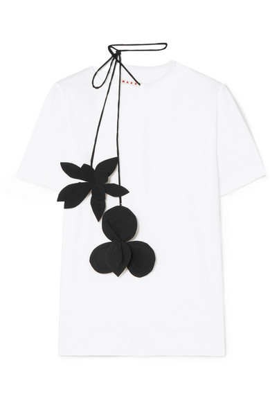 Marni T-Shirt aus Stretch-Baumwoll-Jersey