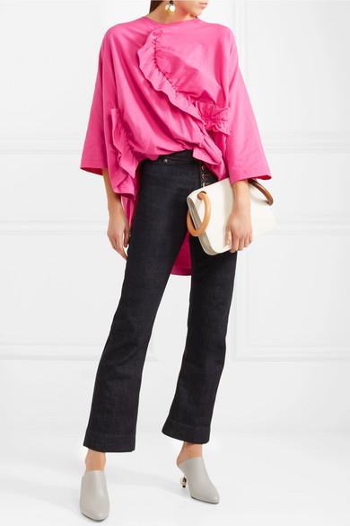 Marni T-Shirt aus Baumwoll-Jersey mit Rüschen