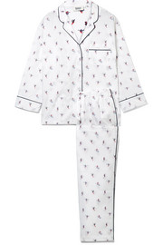 Marina embroidered cotton pajama set
