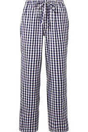 Marina gingham cotton pajama pants