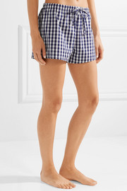 The Paloma gingham cotton pajama shorts