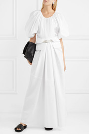 Jil Sander Cotton-poplin maxi dress