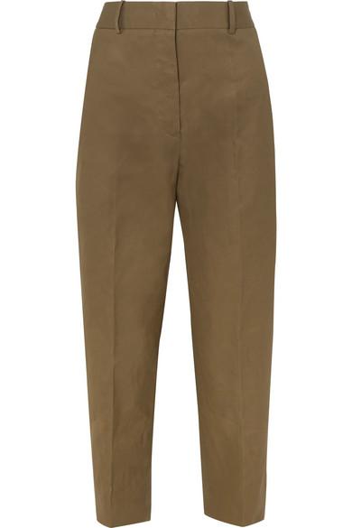 Jil Sander - Cotton-canvas Pants - Army green