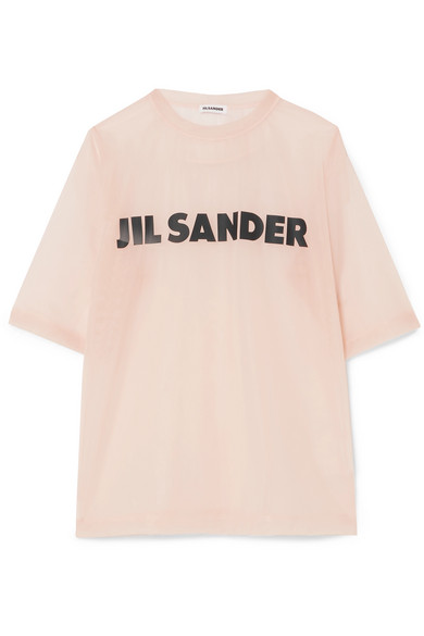 Printed Organza T Shirt by Jil Sander