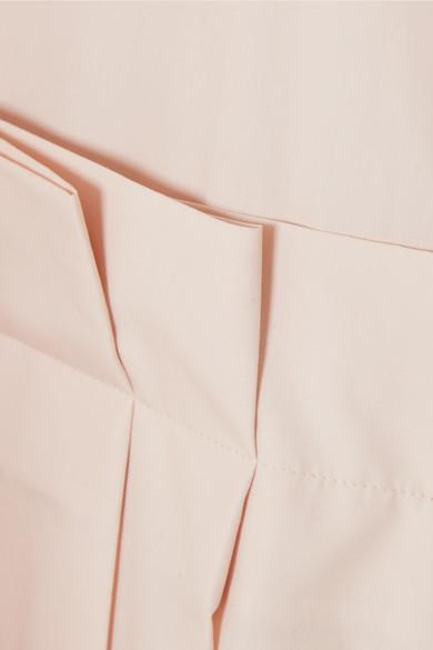 Jil Sander Hemdblusenkleid aus Baumwollpopeline mit Falten