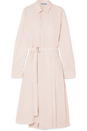 Jil Sander Pleated cotton-poplin shirt dress