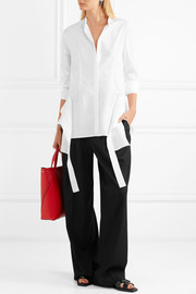 Jil Sander Paneled cotton-poplin shirt