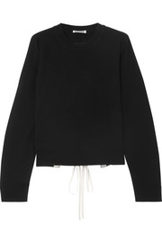 Jil Sander Open back lace-up cashmere sweater