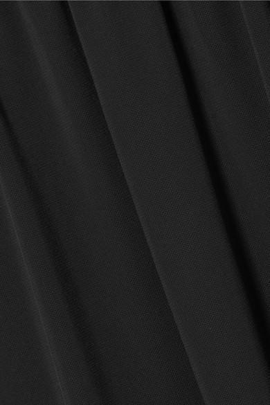 Jil Sander Midikleid aus Jersey mit Canvas-Besatz in Oversized-Passform