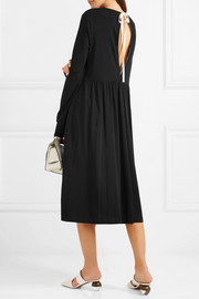 Jil Sander Oversized canvas-trimmed jersey midi dress
