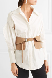 Quilted cotton waist belt
