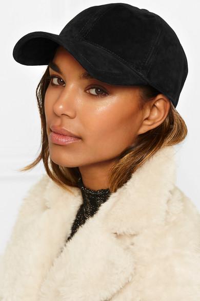 rag   bone. Marilyn leather-trimmed suede baseball cap 60d9f677fd4