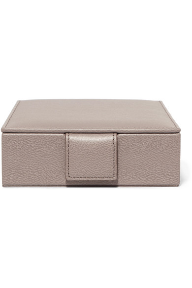 TEXTURED-LEATHER JEWELRY BOX