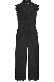 GANNI Ruffled corded lace jumpsuit