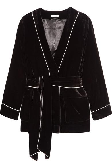 GANNI - Piped Velvet Jacket - Black