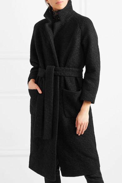 GANNI Bouclé-Mantel aus einer Wollmischung