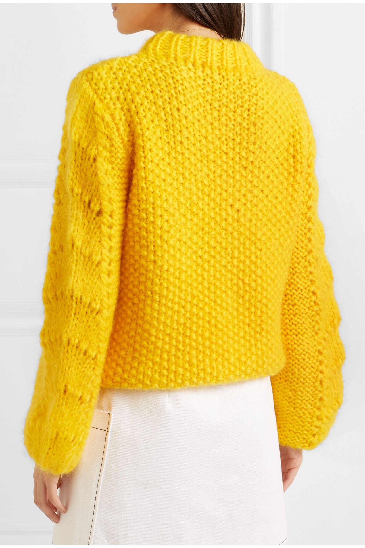 GANNI Julliard mohair and wool-blend sweater