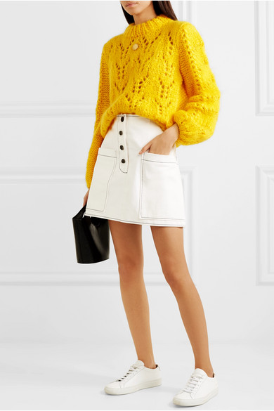 cefd53f5cc1 GANNI | Julliard mohair and wool-blend sweater | NET-A-PORTER.COM