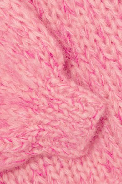 GANNI Julliard Pullover aus einer Mohair-Wollmischung mit Schleife