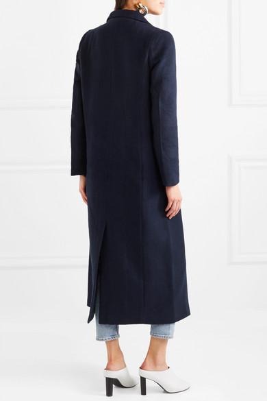 GANNI Abbey Mantel aus einer gebürsteten Wollmischung