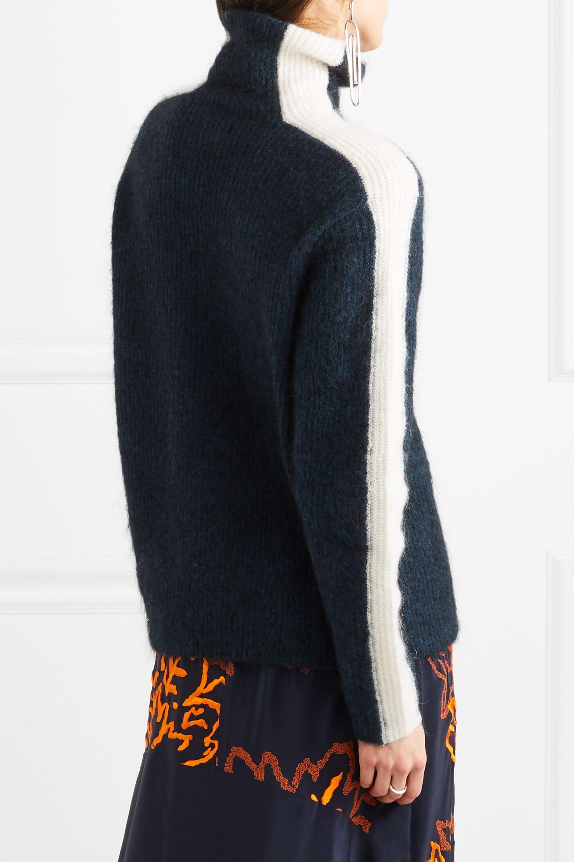 GANNI Evangelista striped knitted turtleneck sweater