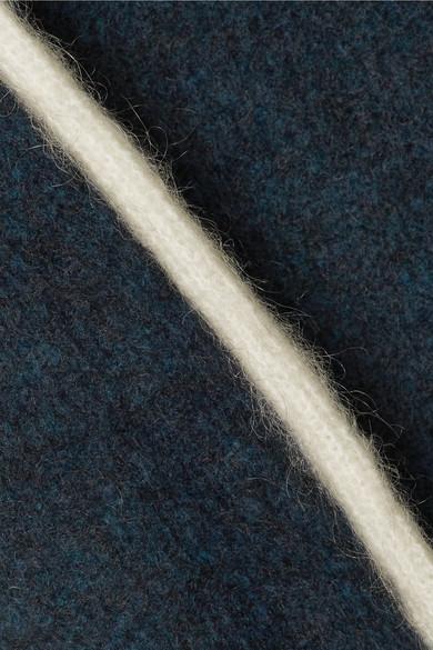 GANNI Evangelista gestrickter Rollkragenpullover mit Streifen