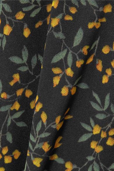 Spielraum Shop Günstig Online Auslass Hohe Qualität GANNI Tilden floral bedrucktes Rollkragenoberteil aus Mesh Große Überraschung Mit Kreditkarte Freiem Verschiffen Um Online-Verkauf h2sQw3TBOw