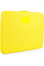 Marc by Marc Jacobs Jumble-embossed neoprene laptop case