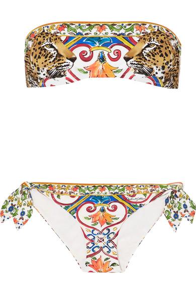 Dolce & Gabbana Bedruckter Bandeau-Bikini