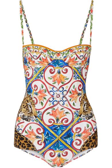 Dolce & Gabbana Bedruckter Balconette-Badeanzug