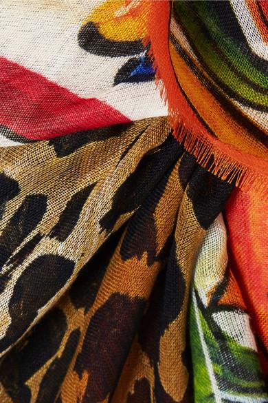 Dolce & Gabbana Bedruckter Pareo aus einer Kaschmir-Seidenmischung