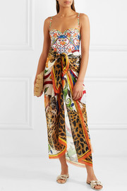 Dolce & Gabbana Printed cashmere and silk-blend pareo
