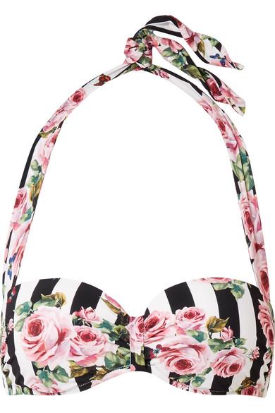 Dolce & Gabbana Bandeau-Bikini-Oberteil mit Blumenprint
