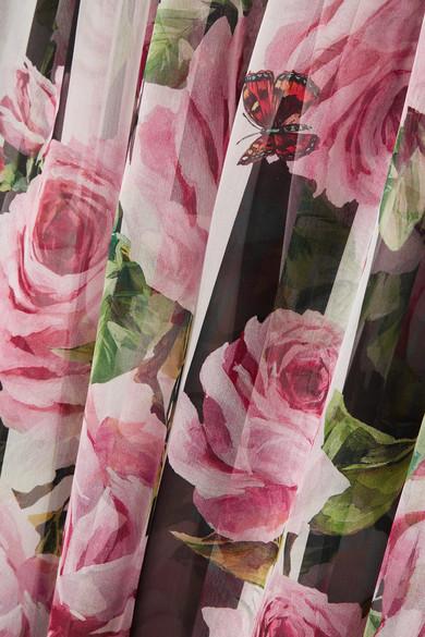 Dolce & Gabbana Oversized-Kaftan aus bedrucktem Seidenchiffon